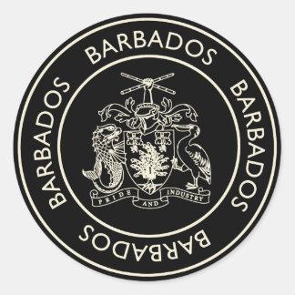 Barbados Classic Round Sticker