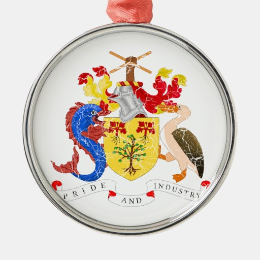 Barbados Coat Of Arms Christmas Tree Ornaments