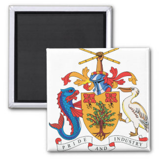 Barbados Coat of Arms detail Fridge Magnets