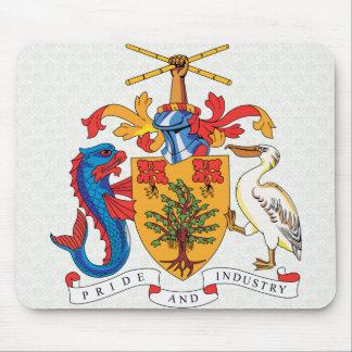Barbados Coat of Arms detail Mouse Pad