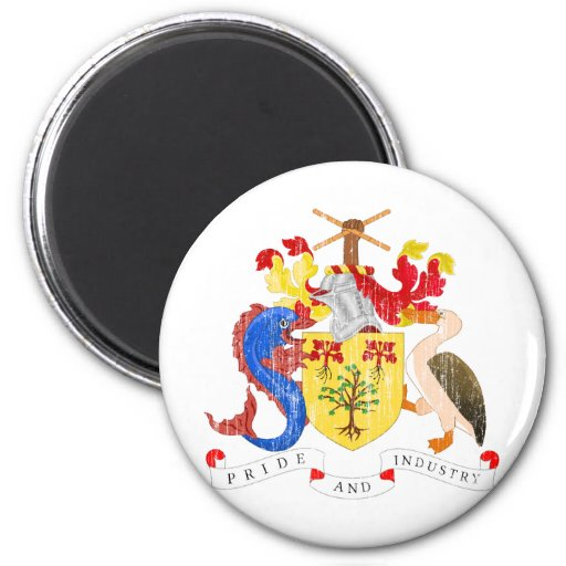 Barbados Coat Of Arms Fridge Magnets