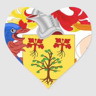 Barbados Coat of Arms Heart Sticker