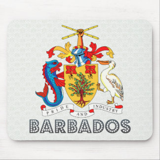 Barbados Coat of Arms Mouse Pad