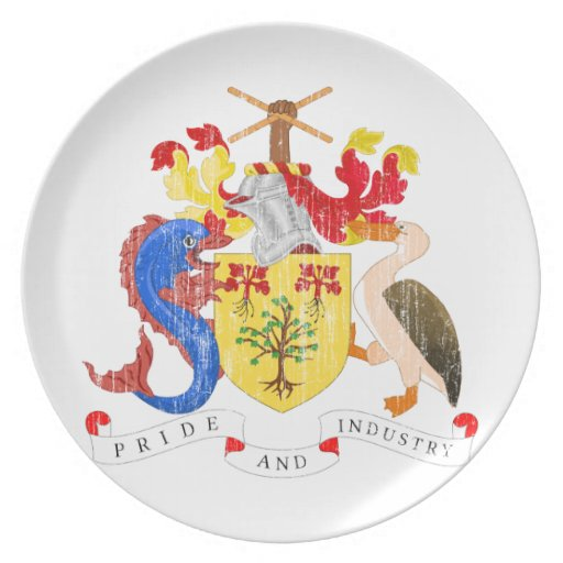 Barbados Coat Of Arms Plate