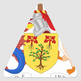 Barbados Coat of Arms Triangle Sticker