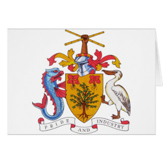 barbados emblem greeting card