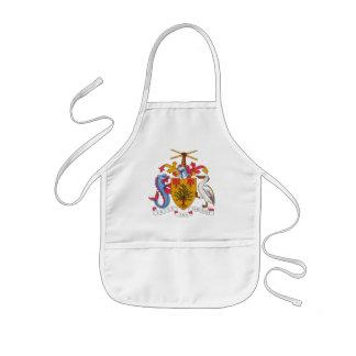 barbados emblem kids' apron
