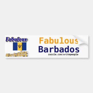 Barbados fabulosas pegatina para auto