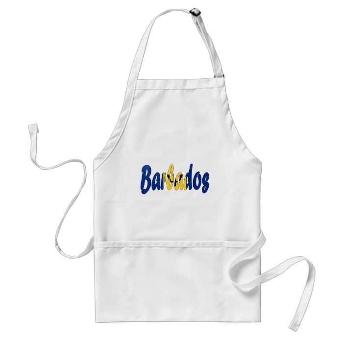 Barbados Flag Adult Apron