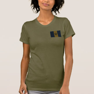 Barbados Flag and Map dk T-Shirt