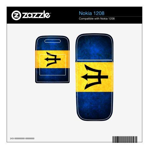 Barbados Flag; Barbadian Decals For Nokia 1208