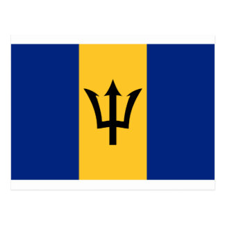 Barbados Flag BB Postcard