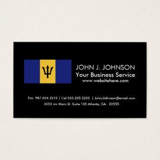 Barbados Flag Business Card