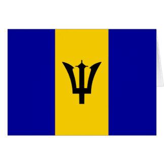Barbados Flag Card