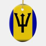 Barbados  Flag Christmas Ornaments