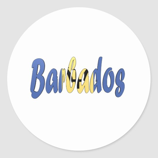 Barbados Flag Classic Round Sticker