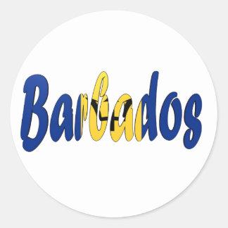 Barbados Flag Classic Round Sticker