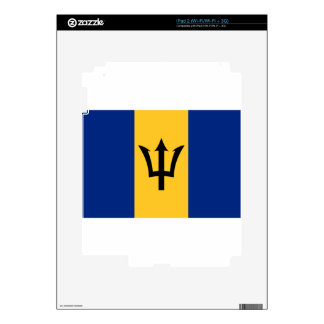 Barbados Flag Decal For The iPad 2