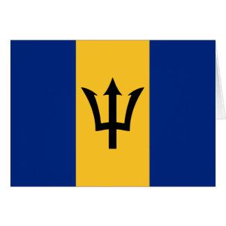 Barbados Flag Design Greeting Card