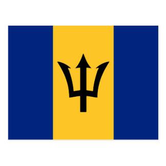 Barbados Flag Design Post Cards