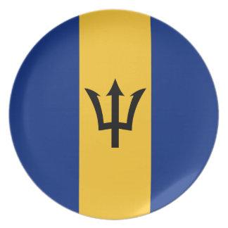 Barbados Flag Dinner Plate