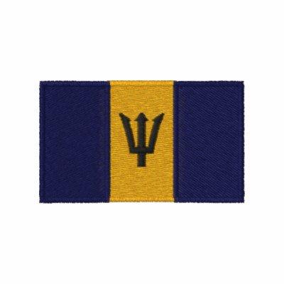 Barbados flag embroidered men's polo shirt