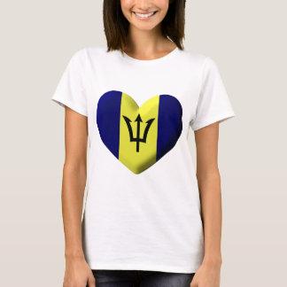 Barbados Flag heart T-Shirt