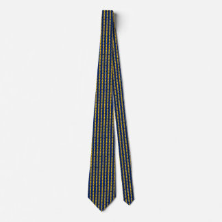 Barbados Flag Hearts Tie
