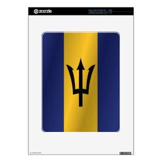 Barbados flag iPad decal