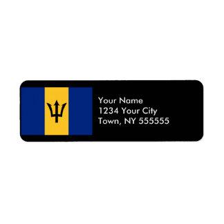 Barbados Flag Label