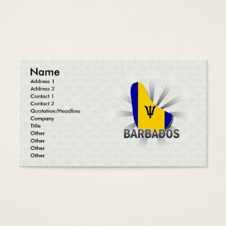 Barbados Flag Map 2.0 Business Card