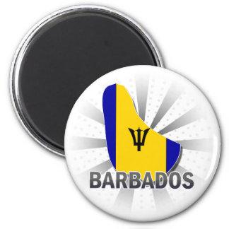Barbados Flag Map 2.0 Refrigerator Magnets