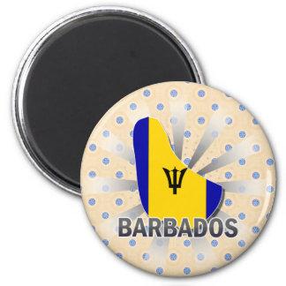Barbados Flag Map 2.0 Refrigerator Magnet