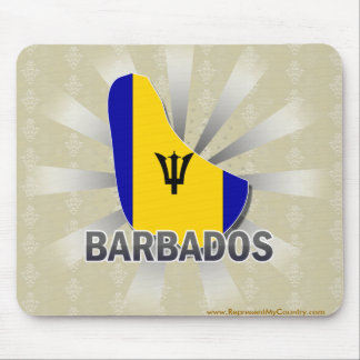 Barbados Flag Map 2.0 Mouse Pad