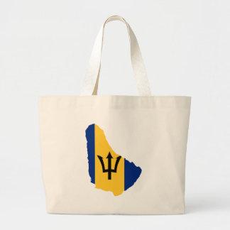 Barbados Flag map BB Large Tote Bag