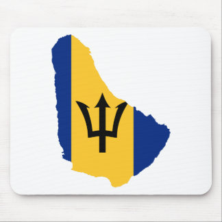 Barbados Flag map BB Mouse Pad
