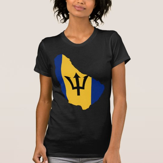 Barbados Flag map BB T-Shirt