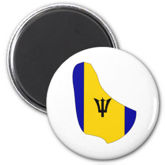 Barbados Flag Map full size Magnets