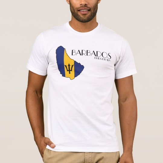 Barbados Flag Map Shirt