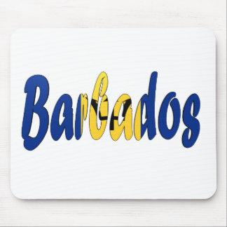 Barbados Flag Mouse Pad