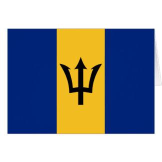 Barbados Flag Notecard
