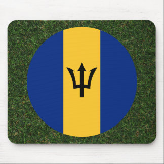 Barbados Flag on Grass Mouse Pad