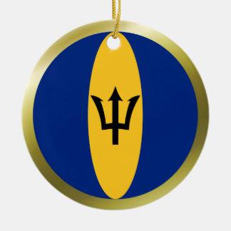 Barbados Flag Ornament