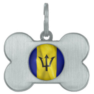 Barbados Flag Pet Tag