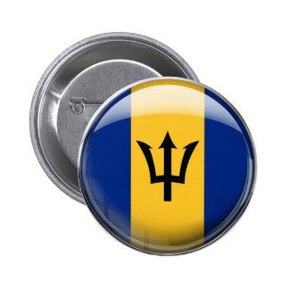 Barbados Flag Pinback Button