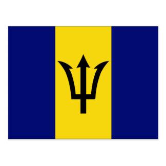 Barbados Flag Postcard