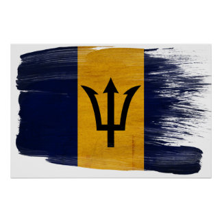 Barbados Flag Posters