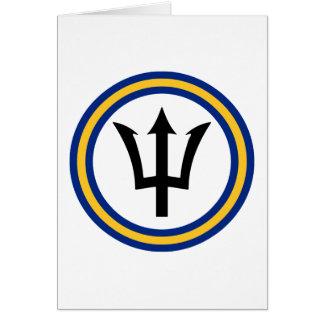Barbados Flag Ring Greeting Card