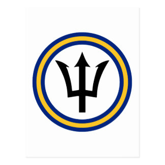 Barbados Flag Ring Postcard