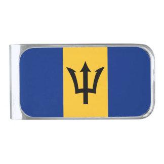 Barbados Flag Silver Finish Money Clip